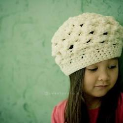 Reversible Beret (Cotton) - sizes from Newborn to 5T
