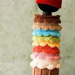 Ice Cream With Cherry on Top - Newborn Cocoon and Hat